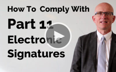 How To Comply With Part 11 Electronic Signatures