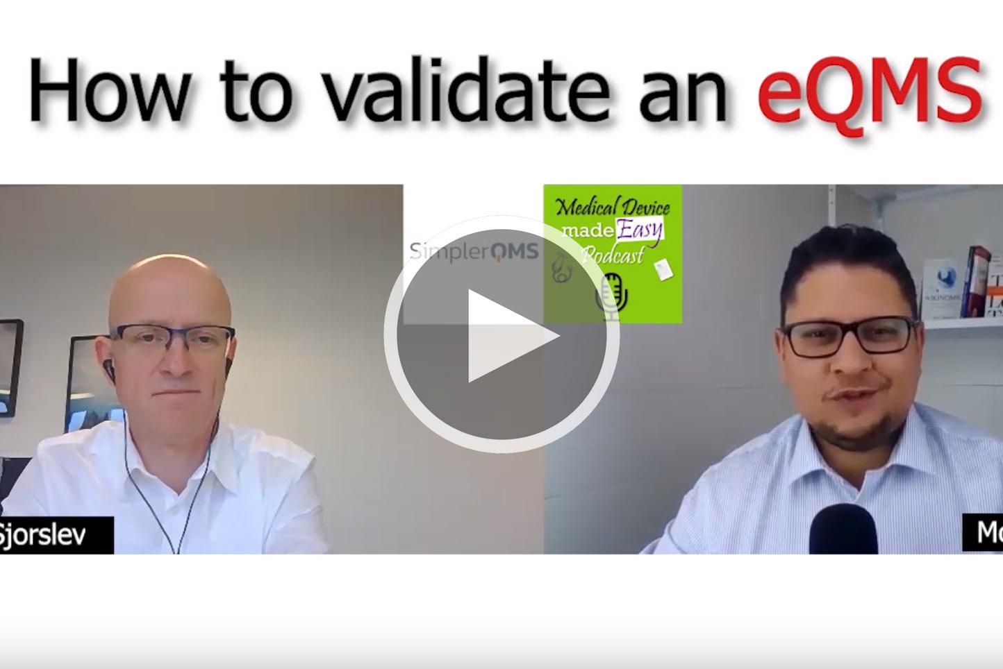 eQMS Validation