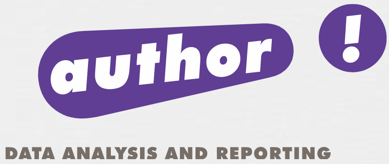 AUTHOR! Data Analysis and Reporting Logo